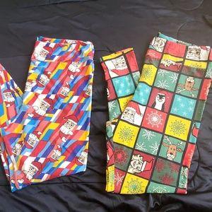 Lularoe TC2 Christmas leggings